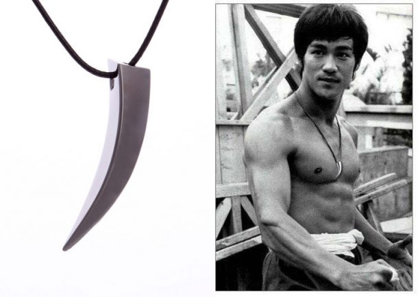 Stainless Steel Wolf Tooth Necklace (Bruce Lee Style)