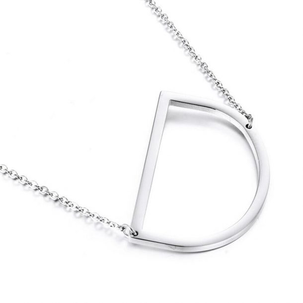Silver Personalized Initial Necklace
