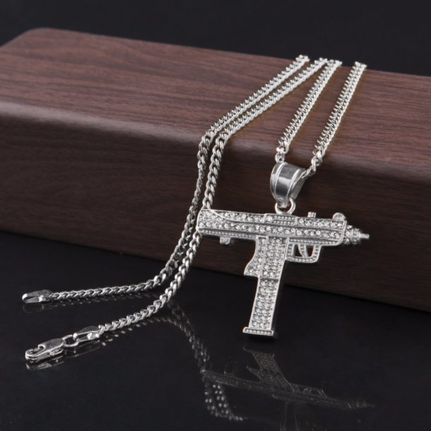 Iced Out Uzi Necklace