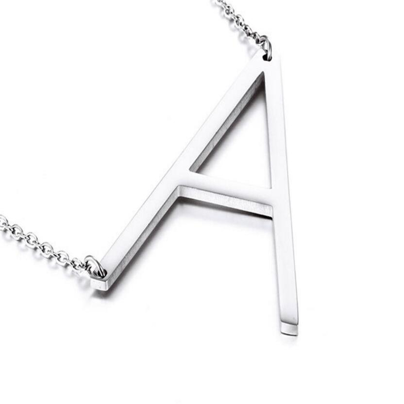 Silver personalized initial necklace aesir design homenecklacessilver personalized initial necklace previous aloadofball Images
