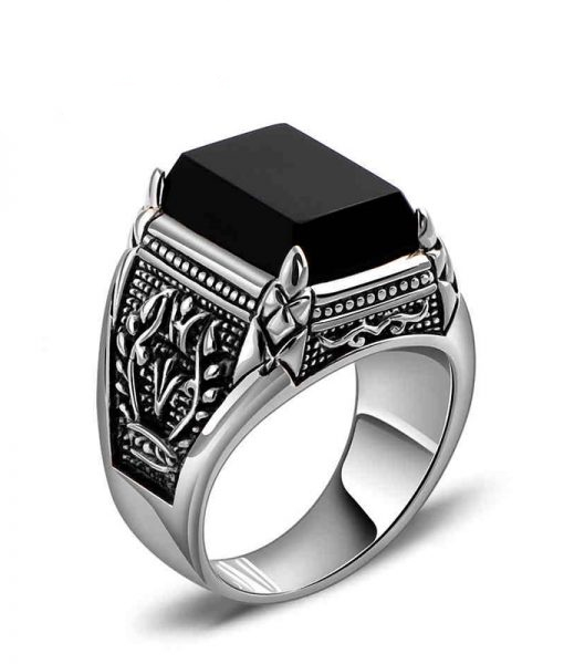 men mens black s onix onyx ring rings platinum p